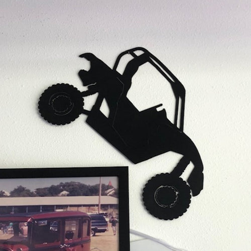 Off-Road ATV Side by Side Silhouette - Woodpost Metalworks