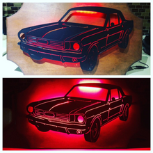 Load image into Gallery viewer, 1966 Ford Mustang Metal Sign with or without LED Backlighting - Woodpost Metalworks