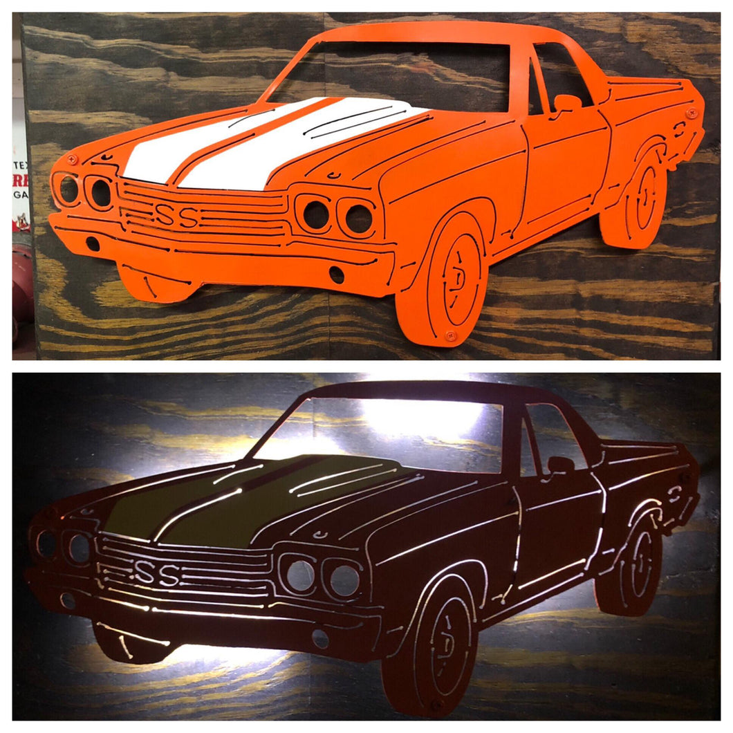 Chevy El Camino Two Colors - Woodpost Metalworks