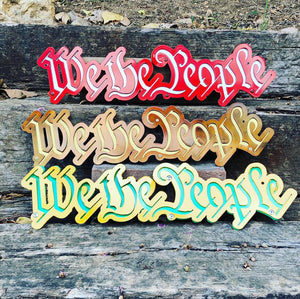 "We The People Two Layer 22"" Wide - Woodpost Metalworks"