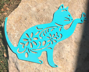 Art Deco Cat Garden Art