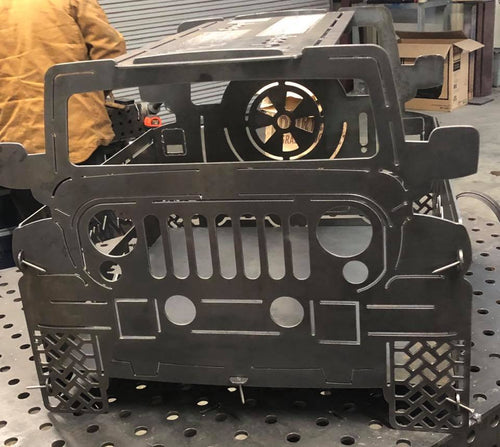 Jeep Firepit - Woodpost Metalworks
