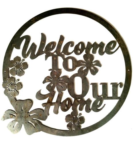 Welcome To Our Home - Woodpost Metalworks