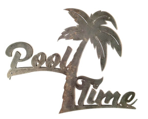 Pool Time Palm Tree - Woodpost Metalworks
