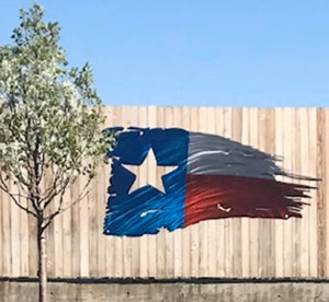 Tattered Texas Battle Flag - Woodpost Metalworks