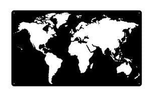 World Map Negative Space