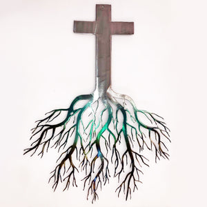 Metal Hanging Tree of Life Cross