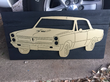 Load image into Gallery viewer, Pontiac GTO Metal Sign with or without LEDs - Woodpost Metalworks