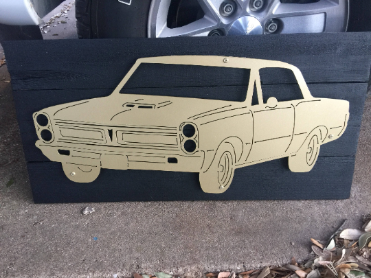 Pontiac GTO Metal Sign with or without LEDs - Woodpost Metalworks
