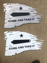 Load image into Gallery viewer, Tattered Come and Take It Flag - Woodpost Metalworks