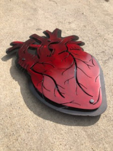Anatomically Correct Heart - Woodpost Metalworks