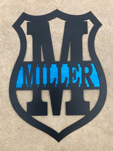 Load image into Gallery viewer, Police Badge Monogram Custom - Woodpost Metalworks