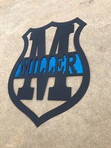 Police Badge Monogram Custom - Woodpost Metalworks