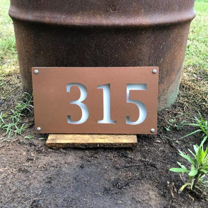 Double Layer Modern Address Numbers