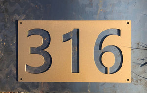 Modern Negative Space Address Numbers