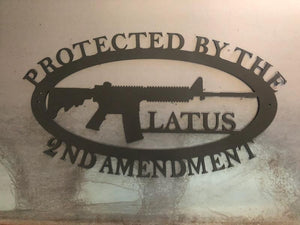 Protected By The 2nd Amendment Rifle with Last Name Option