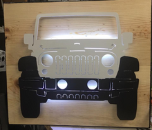 Load image into Gallery viewer, Front Facing Jeep Metal Sign with or without LED Backlighting