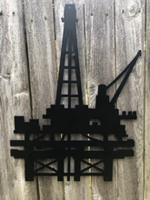 Load image into Gallery viewer, Offshore Oil Rig Metal Sign - Woodpost Metalworks
