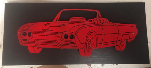 1962 Ford Thunderbird Metal Sign With Or Without LEDs - Woodpost Metalworks
