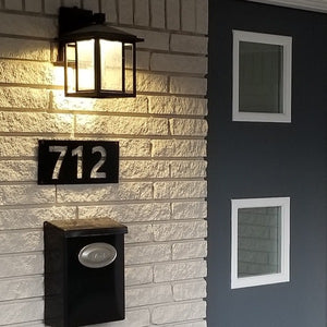 Modern Negative Space Address Numbers - Woodpost Metalworks