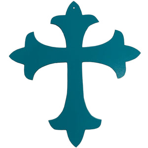 Metal Fleury Cross Hanging Wall Art