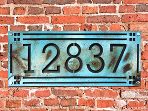 Craftsman Style Address Numbers