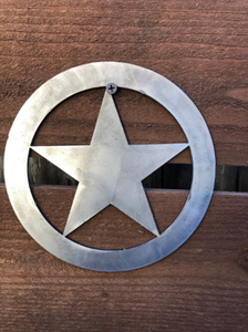 Star with Circle 14g Multiple Sizes - Woodpost Metalworks