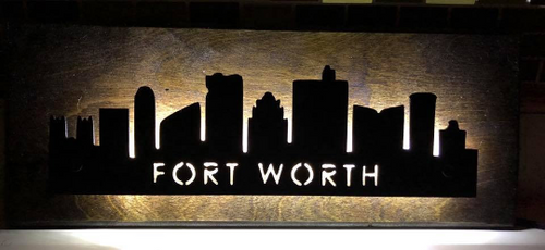 Fort Worth City Skyline - Woodpost Metalworks