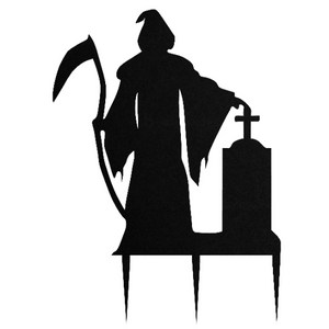 Halloween Grim Reaper / Death Metal Steel Lawn Sign