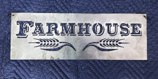 Metal Farmhouse Sign - Woodpost Metalworks