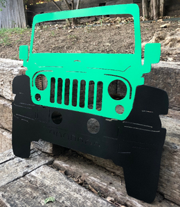 Front Facing Jeep Metal Sign with or without LED Backlighting - Woodpost Metalworks