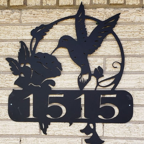 Hummingbird Address Sign
