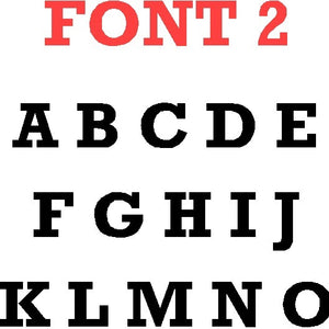 Bold Modern Font Letters and Numbers - Woodpost Metalworks