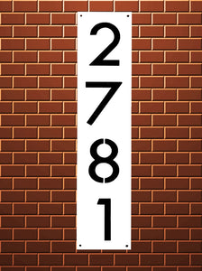 Vertical Address Sign - Woodpost Metalworks