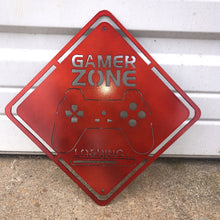 Load image into Gallery viewer, Metal Gamer Zone Sign