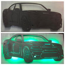 Load image into Gallery viewer, Dodge Charger Metal Sign With Or Without LEDs - Woodpost Metalworks
