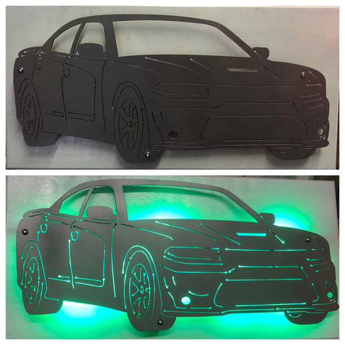 Dodge Charger Metal Sign With Or Without LEDs