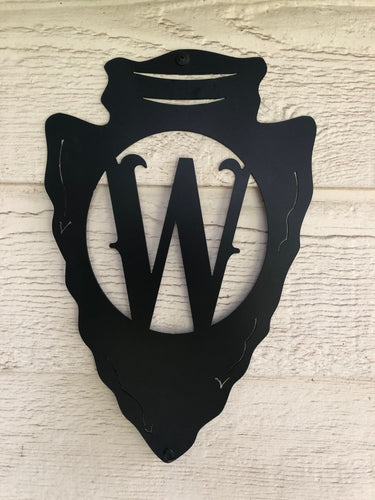 Arrow Head Monogram Letter - Woodpost Metalworks