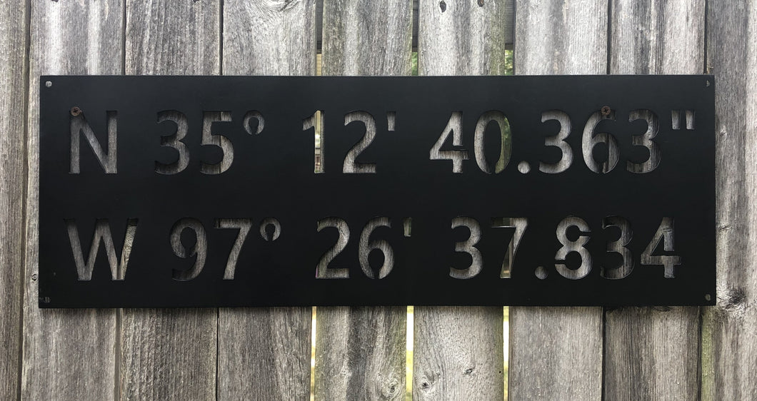 Custom GPS Coordinates Latitude Longitude Nautical Degrees Custom