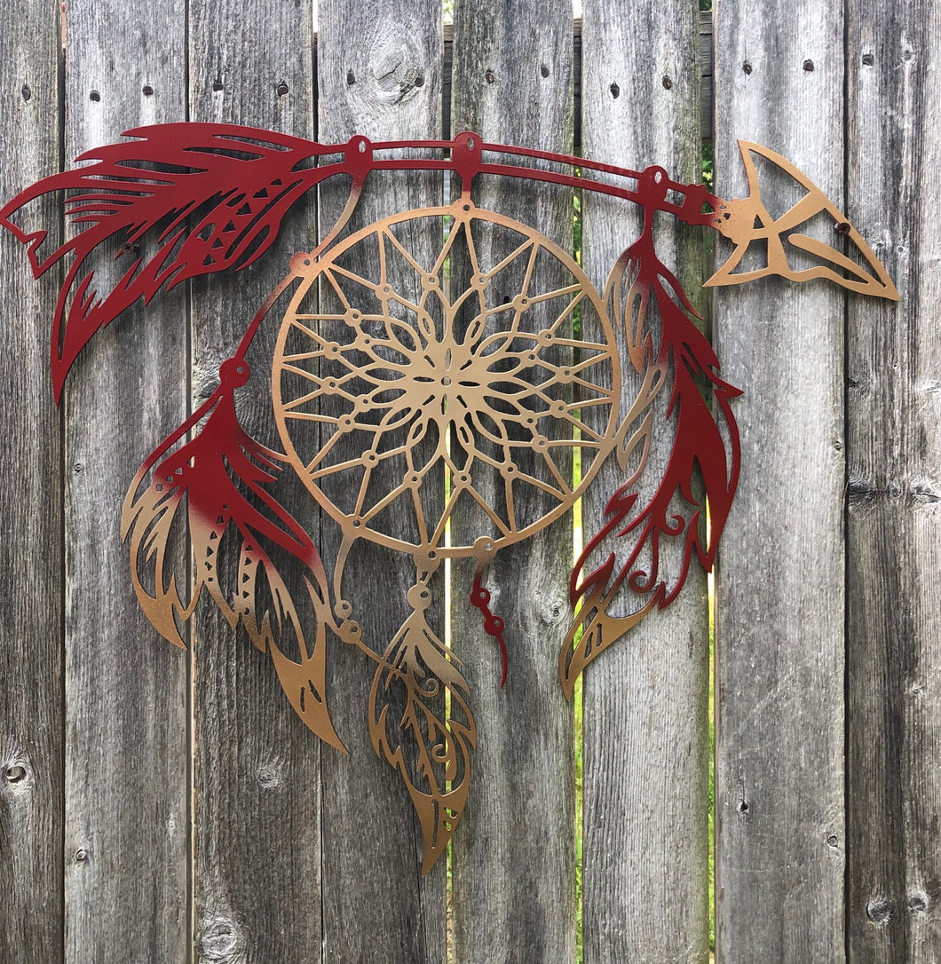 Dream Catcher with Arrow - Woodpost Metalworks