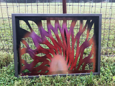 Metal Sunburst Metal Art - Woodpost Metalworks