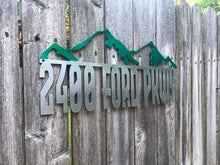 Load image into Gallery viewer, Mountain Address Sign - Woodpost Metalworks