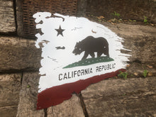 Load image into Gallery viewer, Tattered Californian Flag - Woodpost Metalworks