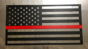 Back The Red American Flag - Woodpost Metalworks