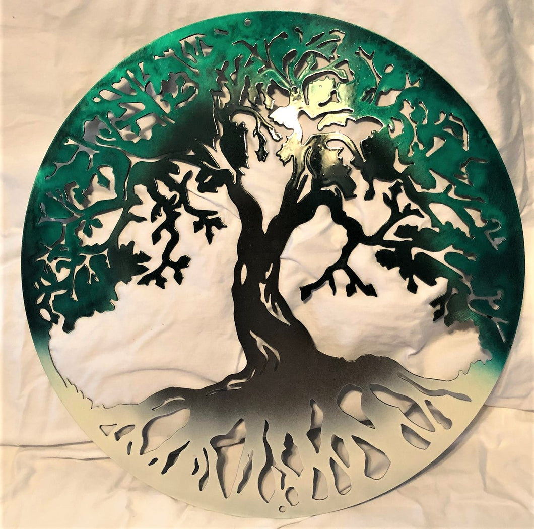 Tree of Life Three Colors - Woodpost Metalworks