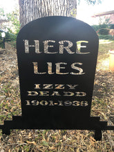 Load image into Gallery viewer, Halloween Gravestone Yard Stake - Woodpost Metalworks