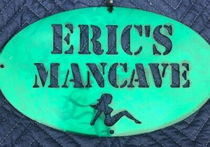 "Custom Mancave Sign 12"" Wide - Woodpost Metalworks"