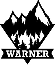 Load image into Gallery viewer, Mountain Last Name Sign