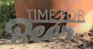 Time For Beer - Woodpost Metalworks