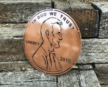 Load image into Gallery viewer, Abraham Lincoln Penny - Woodpost Metalworks